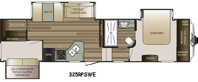 Cougar 325RPSWE Floorplan Image