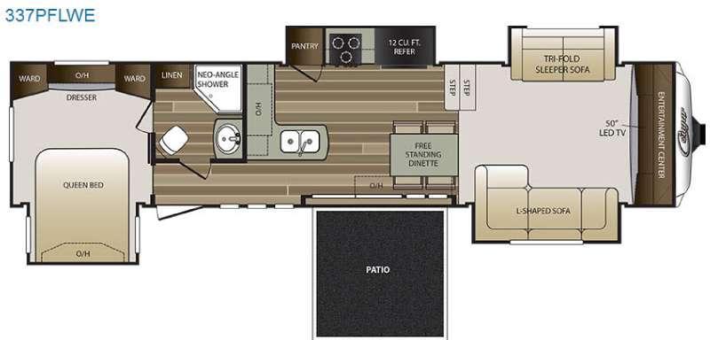 Floorplan - 2017 Keystone RV Cougar 337PFLWE