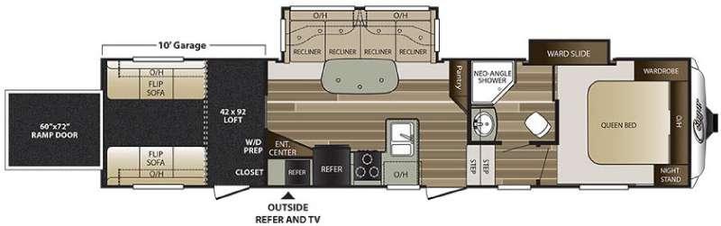 Cougar 326SRX Floorplan Image