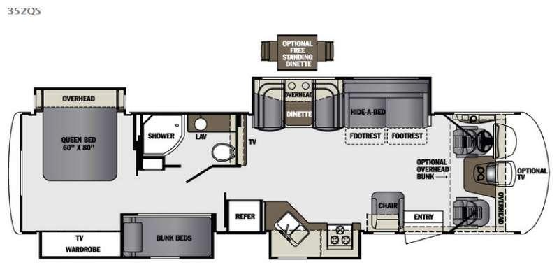 Georgetown XL 352QS Floorplan Image