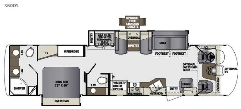 Georgetown XL 360DS Floorplan Image