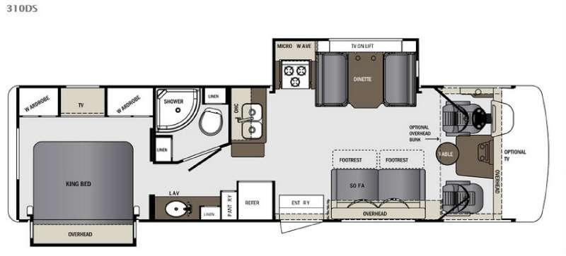 Georgetown 310DS Floorplan Image