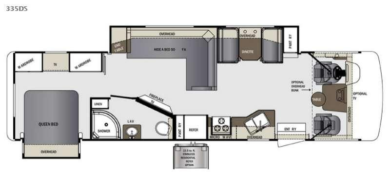 Floorplan - 2017 Forest River RV Georgetown 335DS