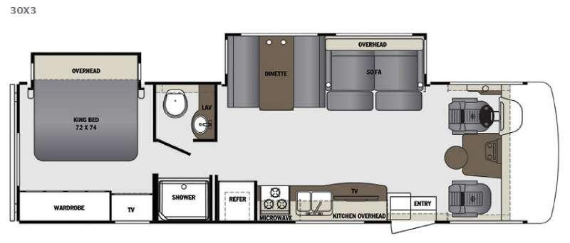 Floorplan - 2017 Forest River RV Georgetown 3 Series 30X3