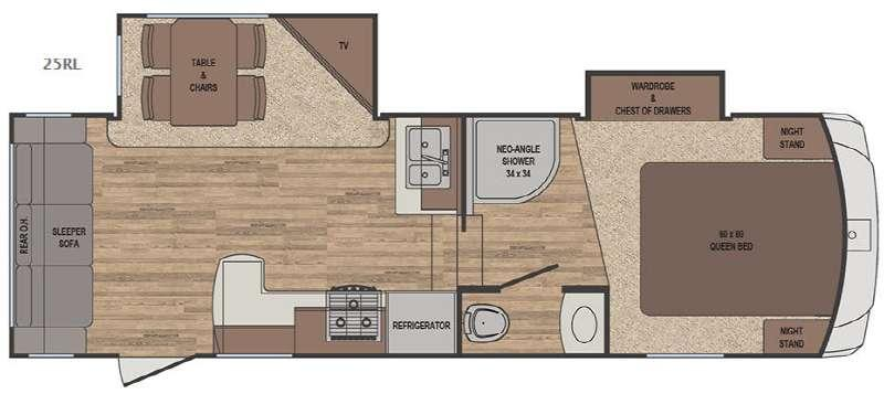 Sabre Lite 25RL Floorplan Image
