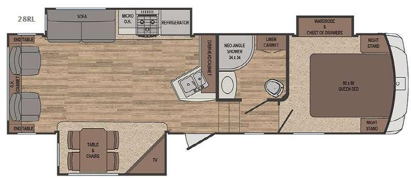 Floorplan - 2017 Forest River RV Sabre Lite 28RL