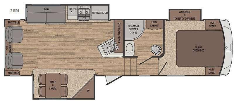 Sabre Lite 28RL Floorplan Image
