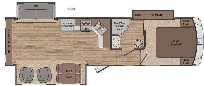 Sabre Lite 29RE Floorplan Image