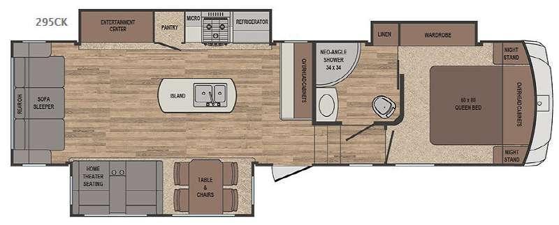 Sabre 295CK Floorplan Image