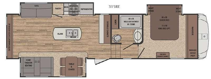 Floorplan - 2017 Forest River RV Sabre 315RE