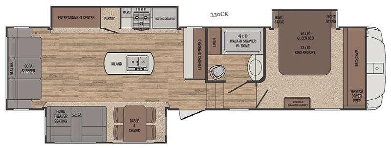 Floorplan - 2017 Forest River RV Sabre 330CK