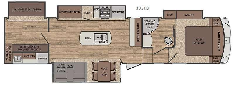 Sabre 335TB Floorplan Image