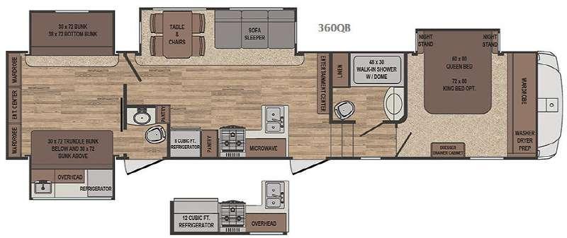 Sabre 360QB Floorplan Image