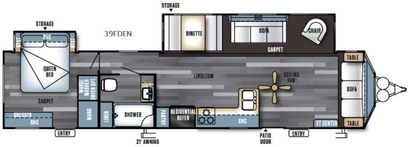 Salem Villa Series 39FDEN Classic Floorplan Image