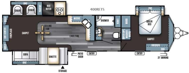 Salem Villa Series 400RETS Classic Floorplan Image