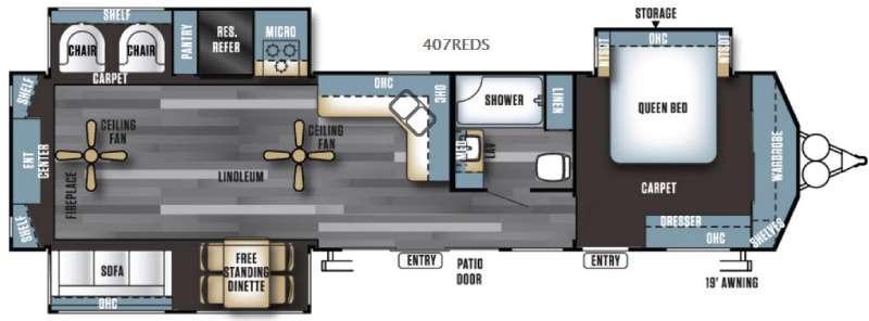 Salem Villa Series 407REDS Estate Floorplan Image