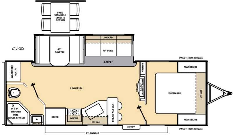 Floorplan - 2017 Coachmen RV Catalina 243RBS