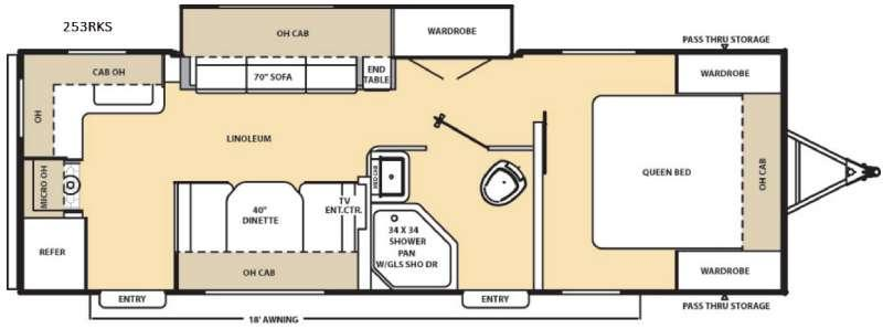 Floorplan - 2017 Coachmen RV Catalina 253RKS
