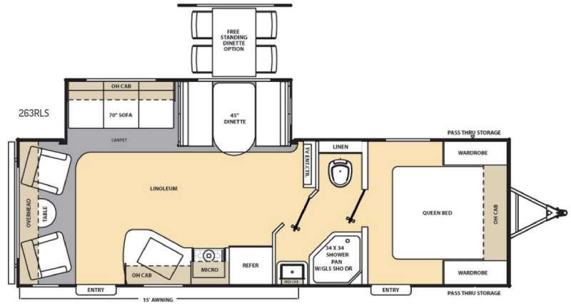 Catalina 263RLS Floorplan Image