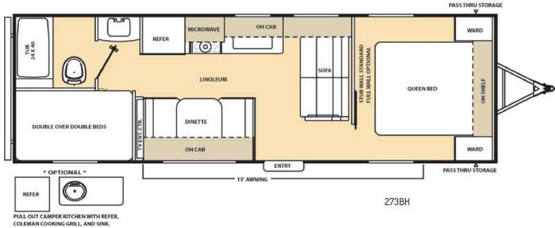 Floorplan - 2017 Coachmen RV Catalina 273BH