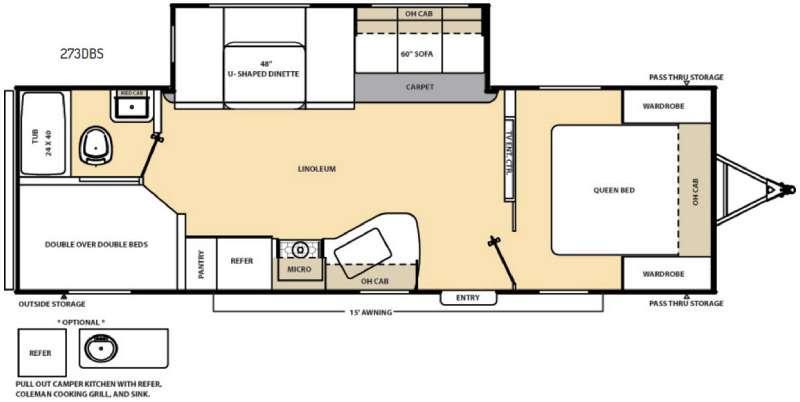 Catalina 273DBS Floorplan Image