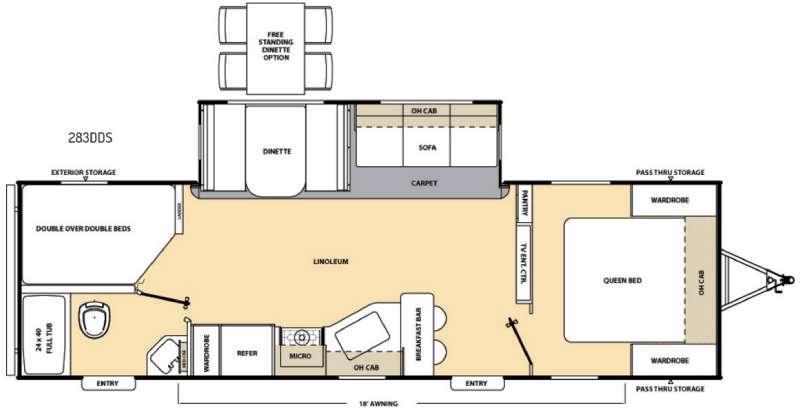 Catalina 283DDS Floorplan Image