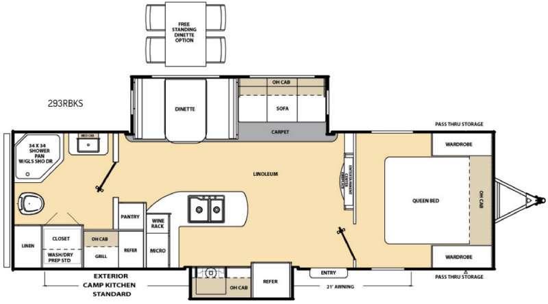 Catalina 293RBKS Floorplan Image