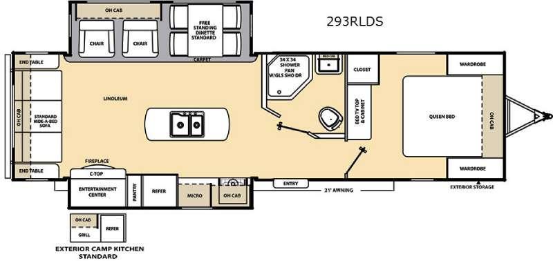 Floorplan - 2017 Coachmen RV Catalina 293RLDS