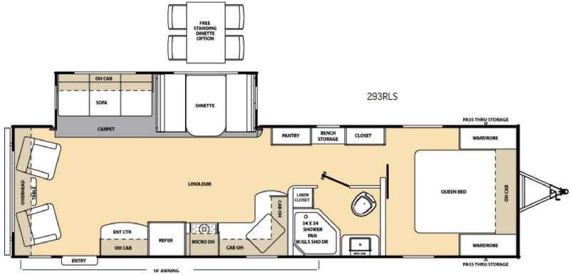 Catalina 293RLS Floorplan Image