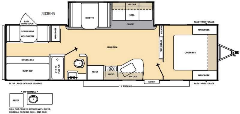 Catalina 303BHS Floorplan Image
