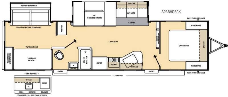 Catalina 323BHDSCK Floorplan Image