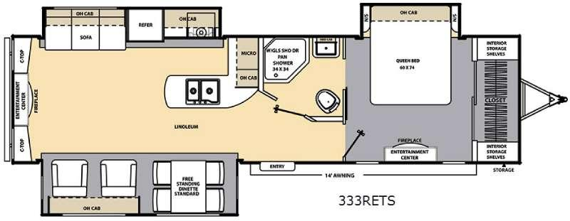 Floorplan - 2017 Coachmen RV Catalina 333RETS