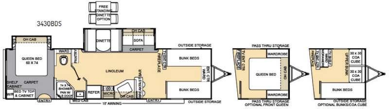 Floorplan - 2017 Coachmen RV Catalina 343QBDS