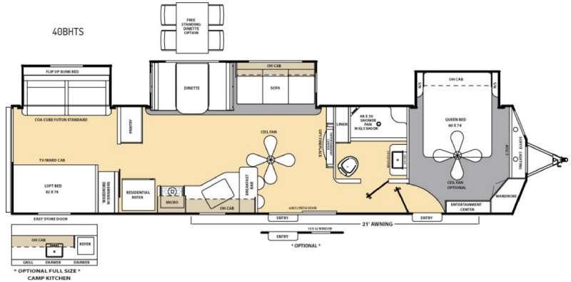 Catalina Destination Series 40BHTS Floorplan Image