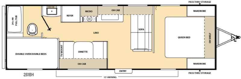 Floorplan - 2017 Coachmen RV Catalina SBX 261BH