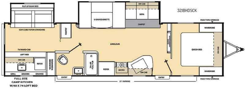 Floorplan - 2017 Coachmen RV Catalina SBX 321BHDSCK