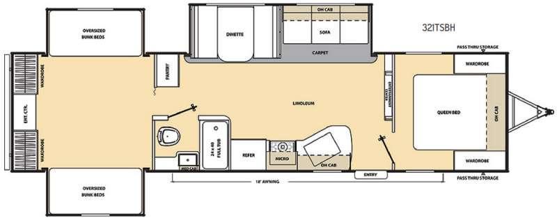 Catalina SBX 321TSBH Floorplan Image