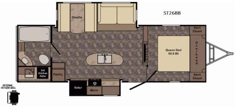 Floorplan - 2017 CrossRoads RV Sunset Trail Grand Reserve ST26BB