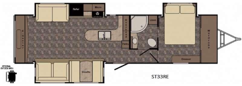 Floorplan - 2017 CrossRoads RV Sunset Trail Grand Reserve ST33RE