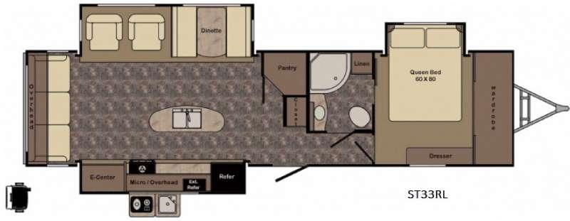 Floorplan - 2017 CrossRoads RV Sunset Trail Grand Reserve ST33RL