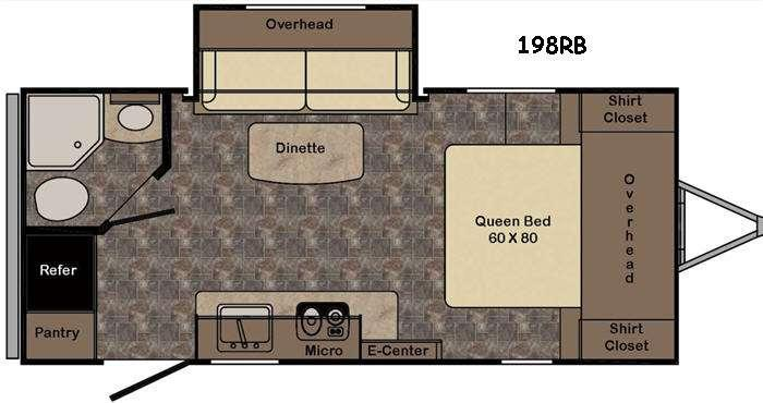 Sunset Trail Ultra Lite 198RB Floorplan Image