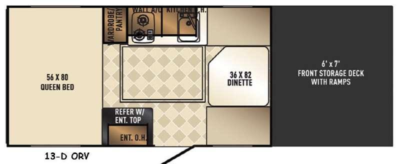 Real-Lite Mini 13-D ORV Floorplan Image