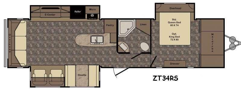 Zinger ZT34RS Floorplan Image
