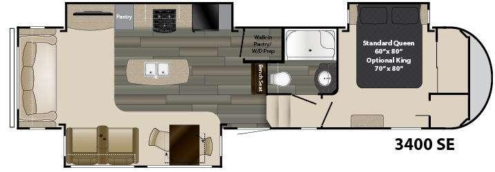 Floorplan - 2017 Heartland Gateway 3400 SE