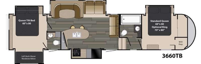 Gateway 3660 TB Floorplan Image