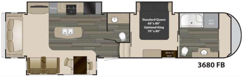 Floorplan - 2017 Heartland Gateway 3680 FB