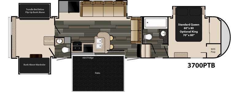 Floorplan - 2017 Heartland Gateway 3700 PTB