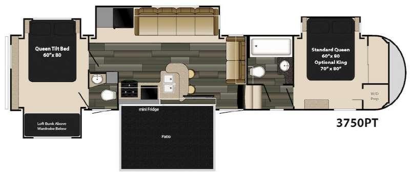 Gateway 3750 PT Floorplan Image