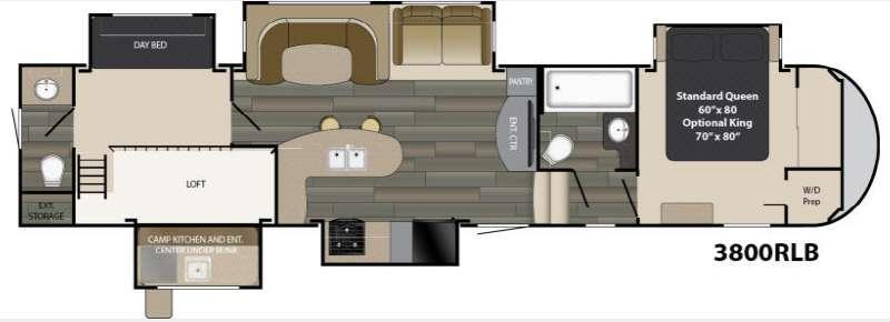Gateway 3800 RLB Floorplan Image