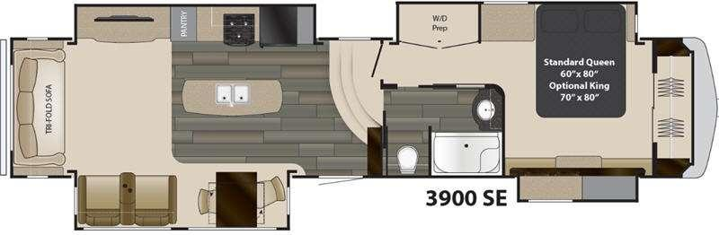 Floorplan - 2017 Heartland Gateway 3900 SE